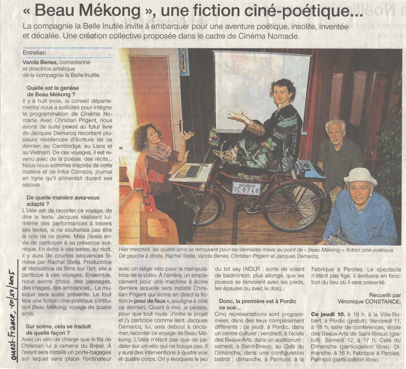 Beau Mekong dans Ouest France